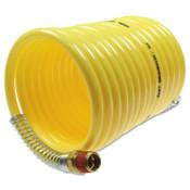 Coilhose Pneumatics Nylon Self-Storing Air Hoses, 1/4 in I.D., 50 ft, 2 Swivel Fittings, 1 EA