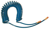Coilhose Pneumatics Flexcoil Polyurethane Air Hoses, 3/8 in OD, 1/4 in ID, 10 ft, Reusable Fitting, 1 EA