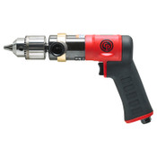 Chicago Pneumatic Pistol Drill, 1/2 in Chuck, Keyed, 0.5 hp, 600 RPM, 1 EA, #CP9286C