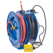Coxreels C Series Combination Spring Driven Air Hose Reels, 3/8 in x 50 ft, 16 AWG, 1 EA, #CL3505016A