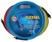 Coilhose Pneumatics FLEXEEL Reinforced Polyurethane Straight Hoses, 9/16 in O.D., 3/8 in I.D., 50 ft, 1 EA
