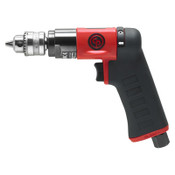 CHICAGO PNEUMATIC CP7300RC Pistol Drill, 1/4 in Chuck, 2,800 rpm, Keyed Metal, 1 EA, #8941073011
