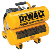 DeWalt AIR COMPRESSOR 2 HP 4 GAL HAND CARRY TWIN TANK, 1 EA