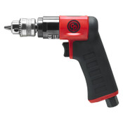 CHICAGO PNEUMATIC CP7300C Pistol Drill, 1/4 in Chuck, 3,300 rpm, Keyed, 1 EA, #CP7300C