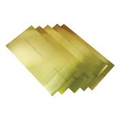 "Precision Brand Brass Shim Stock Rolls, 0.0004"", Brass, 0.005"" x 100"" x 6"", 1 RL, #17305"