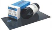 "Precision Brand Blue Tempered Shim Stock Rolls, 0.00075"", Steel 1095, 0.06"" x 50"" x 6"", 1 ROL, #23155"