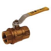 Dixon Valve Imported Brass Ball Valves, 1 1/4 in (NPT) Inlet, Female/Female, Brass, 1 EA