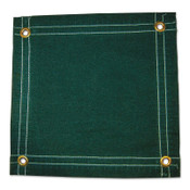 Anchor Products Protective Tarps, 12 ft Long, 10 ft Wide, Green Canvas, 1 EA