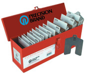 """Precision Brand Slotted Shim Assortment Kits, 3 X 3 in, .001-1/8"""" Thick, Full Asst, 1 BX"""