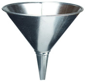 Plews Funnels, 2 qt, Galvanized Steel, 8 in dia., 1 EA, #75003