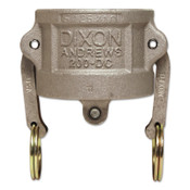 Dixon Valve Andrews Type DC Cam and Groove Dust Caps, 2 in, Aluminum, 1 EA