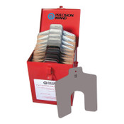 """Precision Brand Slotted Shim Assortment Kits, 8 X 8 in, .001-1/8"""" Thick, 1 EA"""