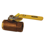 Dixon Valve Bronze Ball Valves, 1/4 in (NPT) Inlet, Female/Female, Bronze, 1 EA