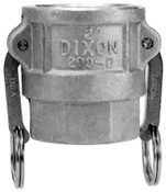 Dixon Valve Andrews Type D Cam and Groove Couplers, 1 in (NPT), Female, 10 EA