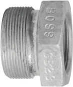 Dixon Valve Boss Ground Joint Spuds, 4 7/16 in, Plated Steel, 5 EA, #GM38