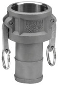 Dixon Valve Andrews Type C Cam and Groove Couplers, 1 1/2 in, Stainless Steel, 1 EA