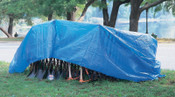 Anchor Products Multiple Use Tarps, 25 ft Long, 12 ft Wide, Polyethylene, Blue, 1 EA