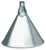 Plews Funnels, 1 qt, Galvanized Steel, 7 in dia., 1 EA, #75001