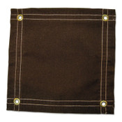 Anchor Products Protective Tarp, 24 ft Long, 16 ft Wide, Brown Canvas, 1 EA