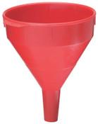 Plews Plastic Funnel, 2 qt Capacity, 7 in dia, 1 in OD Tip, 1 EA, #75070