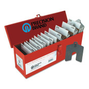 """Precision Brand Slotted Shim Assortment Kits, 5 X 5in, .001-1/8"""" Thick, Full Asst, 1 BX"""
