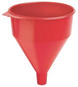 Plews Plastic Funnel, 6 qt Capacity, 9 in dia, 1-1/2 in OD Tip, 1 EA, #75072