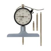 Mitutoyo Series 7 Dial Depth Gage, 100-0 Dial, 8 in Range, 1 EA, #7218S