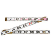 Apex Tool Group Red End Two Way Rulers, 6 ft, Wood, 1 EA