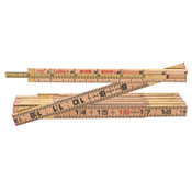 Apex Tool Group Red End Extension Rulers, 8 ft, Wood, 1 Scale, 1 EA, #X48N