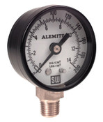 Alemite® Air Pressure Gauge, 200 psi, 1/4 in NPT(M), Back Mount, 1 EA