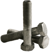 """5/16""""-18x6-1/2 (PT) Hex Bolts A307 Grade A Coarse HDG (50/Pkg.)"""