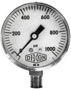 Dixon Valve 2 in Standard Dry Gauge, 200 psi, ABS, 1/4 in NPT(M), 1 EA