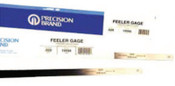 Precision Brand Flat Length Steel Feeler Gauges, 0.001 in, 5 in Length, 10 PKG, #19115