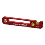 Flange Wizard Standard Pocket Levels, 9 in, 3 Vials, 1 EA, #SL100