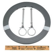 Apex Tool Group Peerless Surveying Tapes, 1/4 in x 200 ft, Inch/Engineers, Chrome, Open Reel, 1 EA, #C1278DN