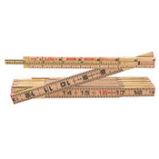 Apex Tool Group Red End Extension Rulers, 6 ft, Wood, 1 Scale, 1 EA, #X46FN