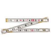 Apex Tool Group Red End Rulers, 6 ft, Wood, Inch/Metric, 2 Scales, 1 EA, #062CMEN