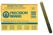 "Precision Brand 1/2"" X 5""  BRASS THICKNESS GAGE POC-KIT ASST, 1 AS, #76740"