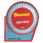 L.S. Starrett Angle Meters, Magnetic, 0 to 90 degree, 1 EA, #36080