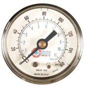 Coilhose Pneumatics 2 in Polycarbonate Case Gauge, 160 psi (tensile), Polycarbonate, 1/4 in NPT(M), 1 EA