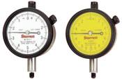 L.S. Starrett 25 Series AGD Group 2 Dial Indicators, 0-100 Dial, 1 in Range, 1 EA