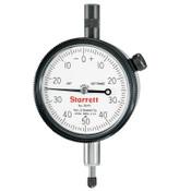L.S. Starrett 25 Series AGD Group 2 Dial Indicators, 0-50-0 Dial, 0.25 in Range, 1 EA