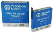 Precision Brand Coil Steel Feeler Gauges, 0.015 in, 25 ft Length, 25 COIL, #19495