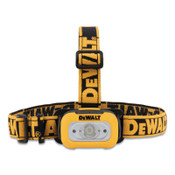 DeWalt LED Headlamp, 3 AAA, 200 Lumens, Black/Yellow, 1 EA, #DWHT81424
