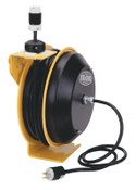 Coxreels EZ-Coil Power Cord Reels, 16/3 AWG, 20 A, 50 ft, 1 EA, #EZPC135012B