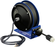 Coxreels PC10 Series Power Cord Reels, 12/3 AWG, 20 A, 30 ft, Single Receptacle, 1 EA, #PC103012A