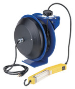 Coxreels PC13 Series Power Cord Reels, 12/3 AWG, 20 A, 50 ft, Single Industrial Plug, 1 EA, #PC135012A