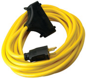 CCI Generator Extension Cord, 25 ft, 3 Outlets, 1 EA, #19100002