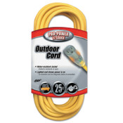 CCI Yellow Jacket Power Cord, 25 ft, 1 Outlet, 1 EA