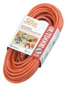 CCI Tri-Source Vinyl Multiple Outlet Cord, 50 ft, 3 Outlets, 1 EA, #4218SW8804